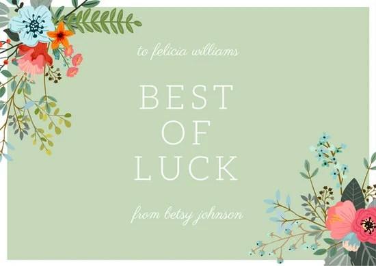 Customize 390+ Good Luck Card templates online - Canva - good luck cards to print