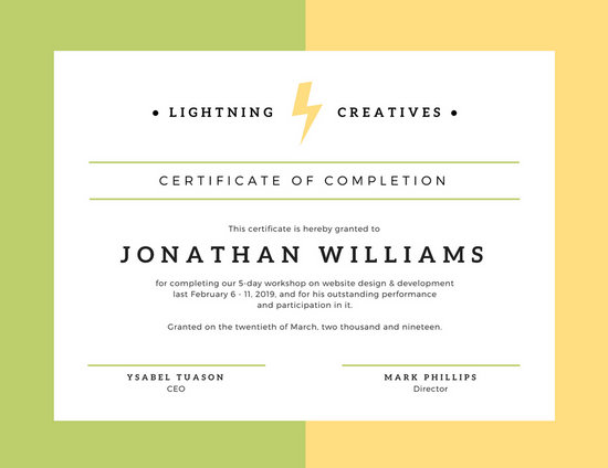 certificate of completion design - Funfpandroid