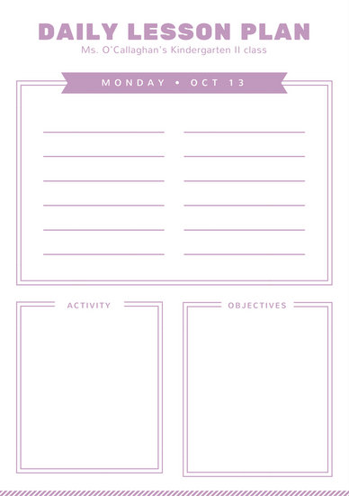 127+ Lesson Plans Banners, Graphics  Templates for Free Download