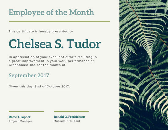 Free Employee Of The Month Certificate Template madebyrichard