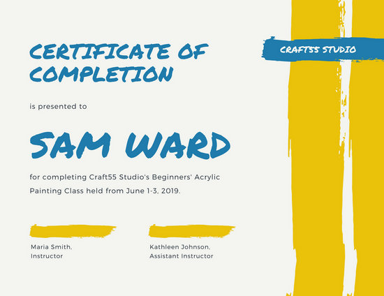 Completion Certificate Templates - Canva - blank certificates of completion