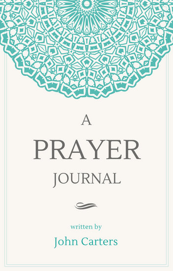 Cream and Teal Ornamental Prayer Journal Book Cover - Templates by Canva