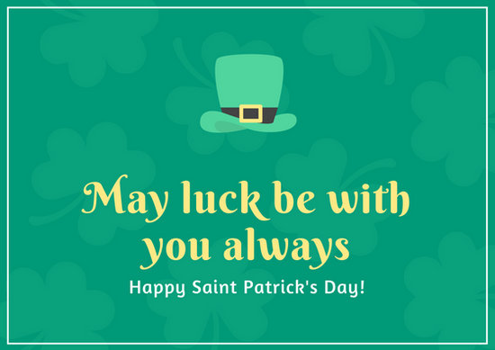 Customize 78 St Patrick39s Day Card Templates Online Canva