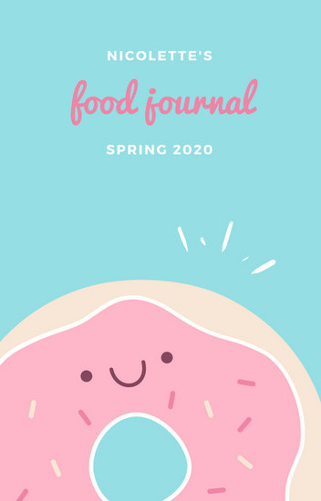 Customize 186+ Food Journal Book Cover templates online - Canva