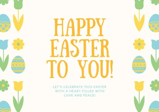 Mint Green and Coral Easter Card - Templates by Canva