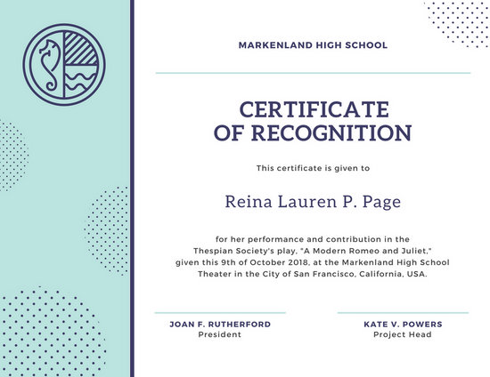 Customize 204+ Recognition Certificate templates online - Canva - recognition certificate template