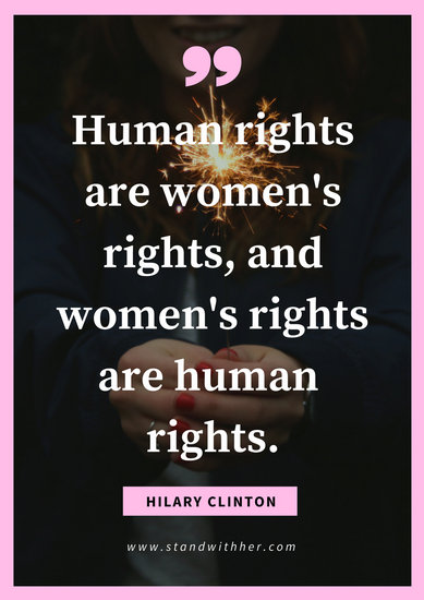 Feminist Quote Wallpapers Customize 44 Women S Rights Poster Templates Online Canva