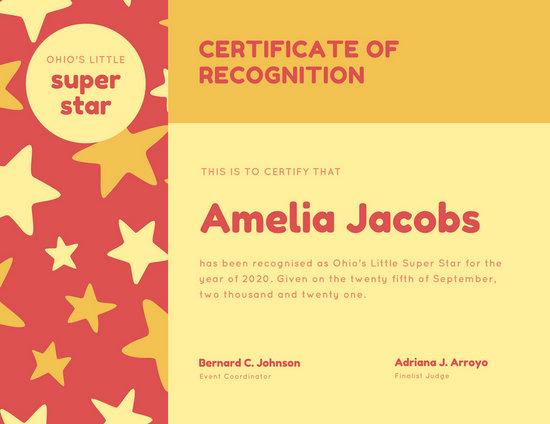 certificate of recognition sample - Artij-plus
