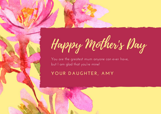 Customize 1,640+ Mother\u0027s Day Card templates online - Canva - mother sday cards