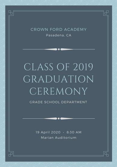 Customize 131+ Graduation Program templates online - Canva