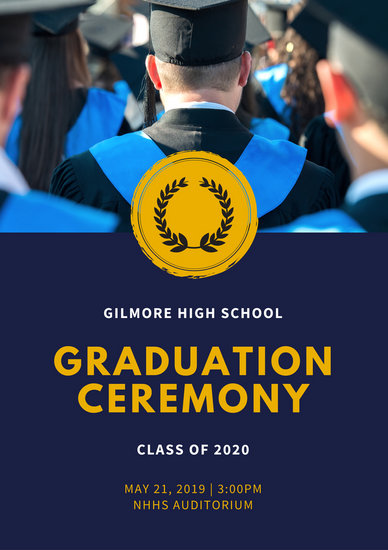 Customize 137+ Graduation Program templates online - Canva