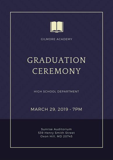 Customize 137+ Graduation Program templates online - Canva