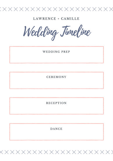 Pink Bordered and Purple Wedding Timeline Planner - Templates by Canva