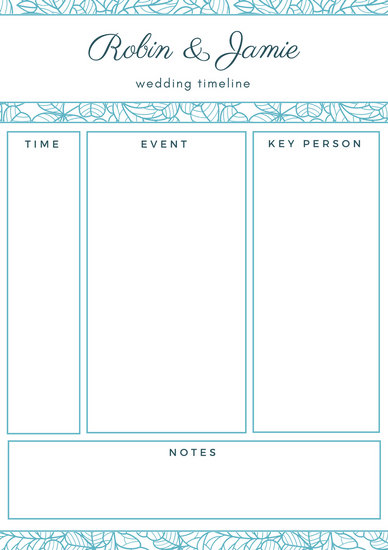 Customize 167+ Wedding Timeline Planner templates online - Canva - wedding timeline