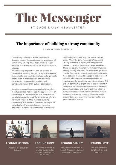 Customize 288+ Church Newsletter templates online - Canva