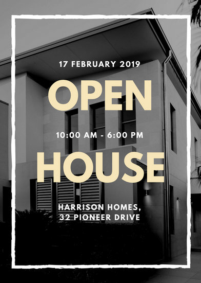 Black and White Photo Open House Flyer - Templates by Canva - open house flyer