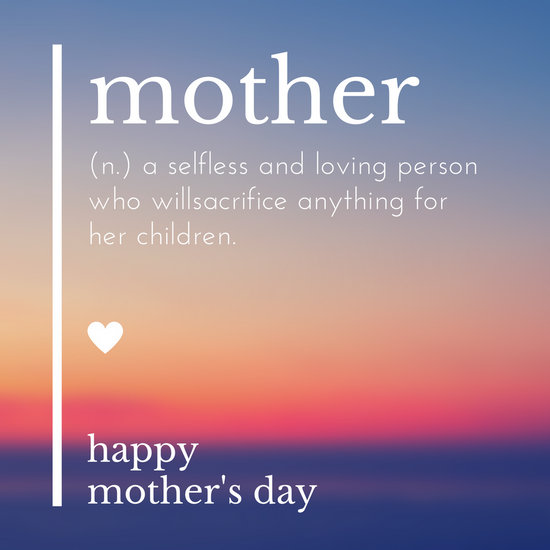 White Text  Gradient Background Mother\u0027s Day Quote Greeting