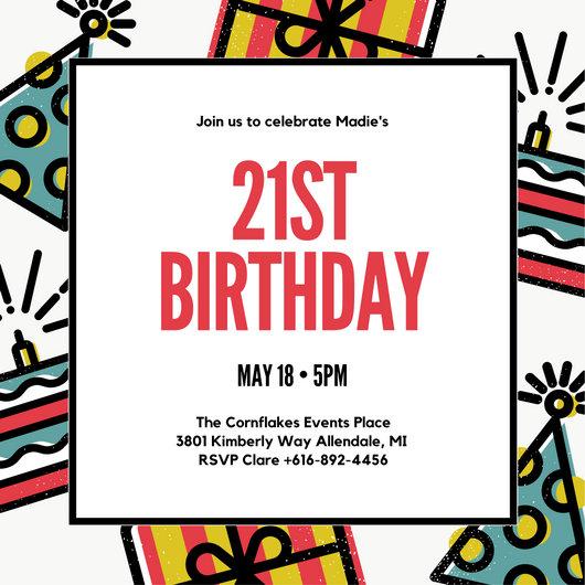 Birthday Invitation Templates - Canva - format for birthday invitation