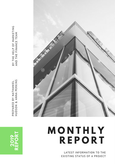 Customize 104+ Monthly Report templates online - Canva - monthly report templates