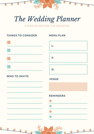 wedding planner resume template