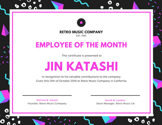 Customize 1,510+ Employee Of The Month Certificate templates online