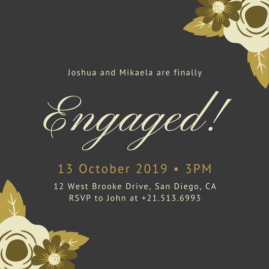 Engagement invitation templates nfgaccountability – Fancy Invitation Templates