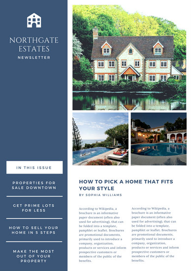 Customize 84+ Real Estate Newsletter templates online - Canva