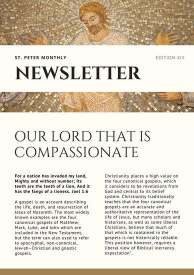 Brown Murals Church Newsletter - Templates by Canva - church newsletter