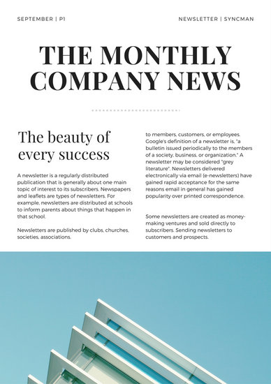 Blue Modern Technology Company Newsletter - Templates by Canva - business newsletter