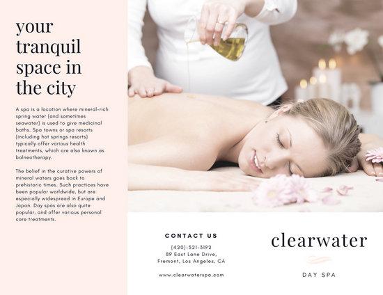 Customize 45+ Massage Brochure templates online - Canva - spa brochure