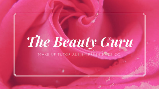 Pink Rose Image Beauty Make-up Youtube Channel Art - Templates by Canva