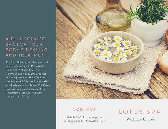 Customize 54+ Spa Brochure templates online - Canva