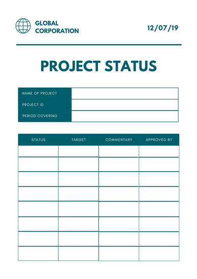Customize 194+ Project Status Report templates online - Canva