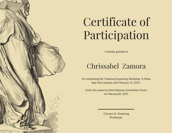 Certificate Templates - Canva - attendance certificate template