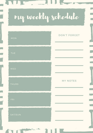 Customize 181+ Weekly Schedule Planner templates online - Canva