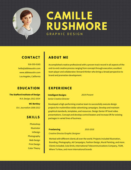 resumes layout