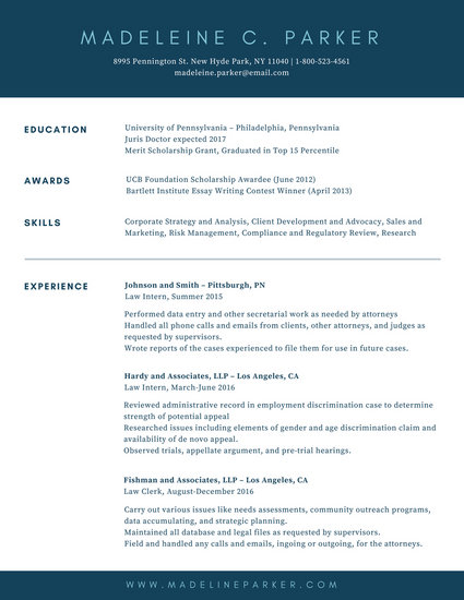 Blue Simple Academic Resume - Templates by Canva
