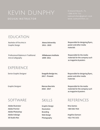 Customize 563+ Graphic Design Resume templates online - Canva - Resume For Graphic Designer