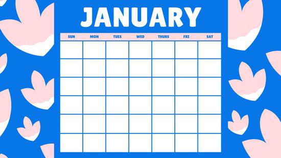 Customize 43+ Monthly Calendar templates online - Canva