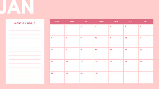 Pastel 2018 Monthly Calendar - Templates by Canva - calendar template