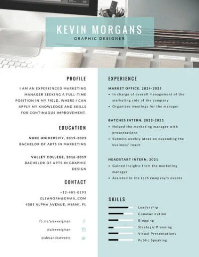 Customize 320+ Photo Resume templates online - Canva