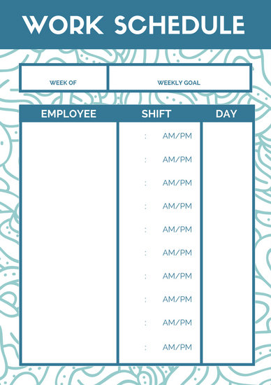 Violet Simple Elegant Work Schedule Planner - Templates by Canva