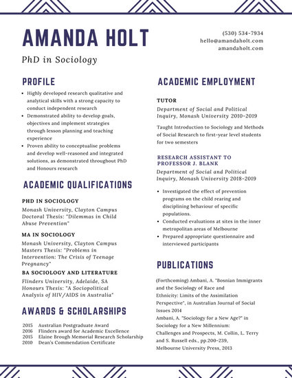 resume examples for college scholarships templates white minimalist academic