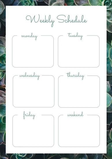 pricing schedule template