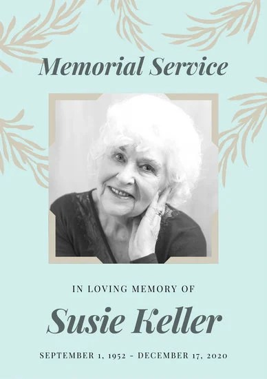 Cream Floral Memorial Service Program - Templates by Canva - memorial program