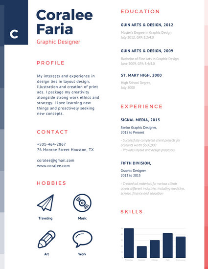 simple graphic design resumes - Goalgoodwinmetals - Simple Resume Design