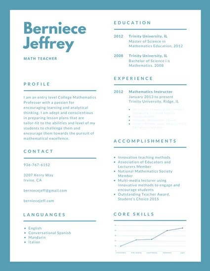 Customize 527+ Simple Resume templates online - Canva - Simple Resume Templates