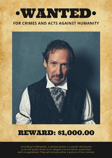 Brown Paper Western Wanted Poster - Templates by Canva - criminal wanted poster