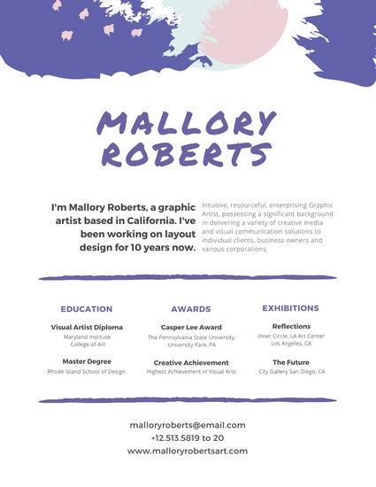 off white designer resume template