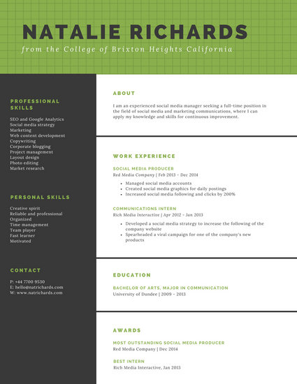 templates for resumes free online